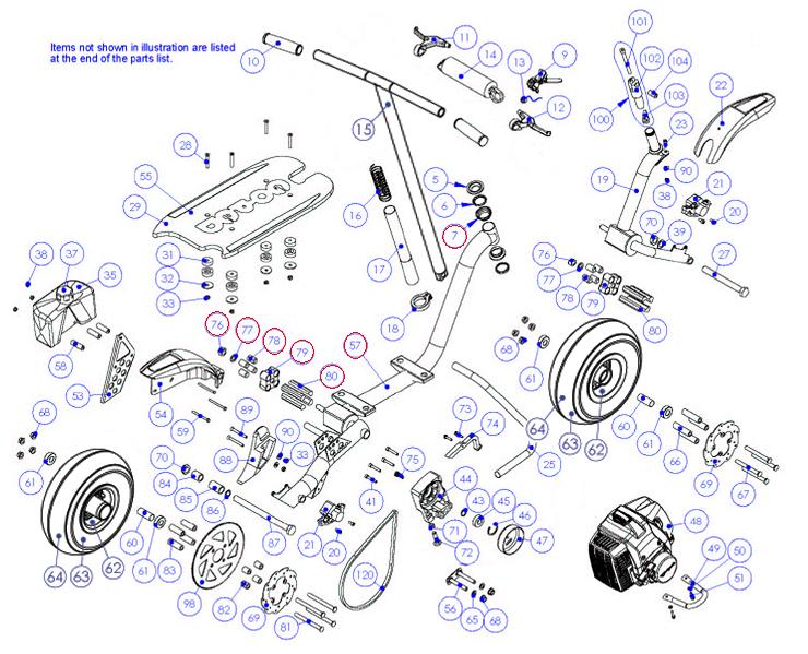 Go ped GTR Rahmen goped 8 wiring diagram diagram wiring diagrams for diy car repairs moped wiring diagram at mr168.co