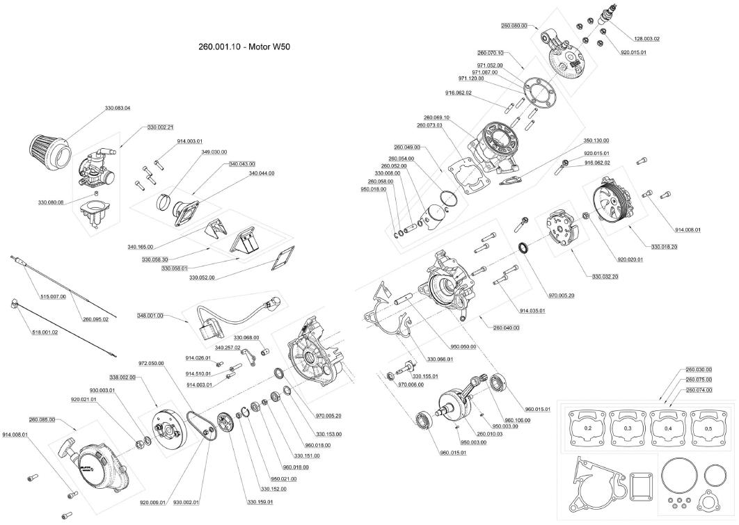 Blata Ultima Engine Parts W50 Goped Scooter Tuning Motor Wiring Diagram