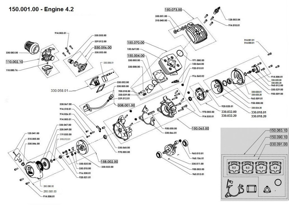 Engine Parts: Pocket Bike Engine Diagram At Gundyle.co