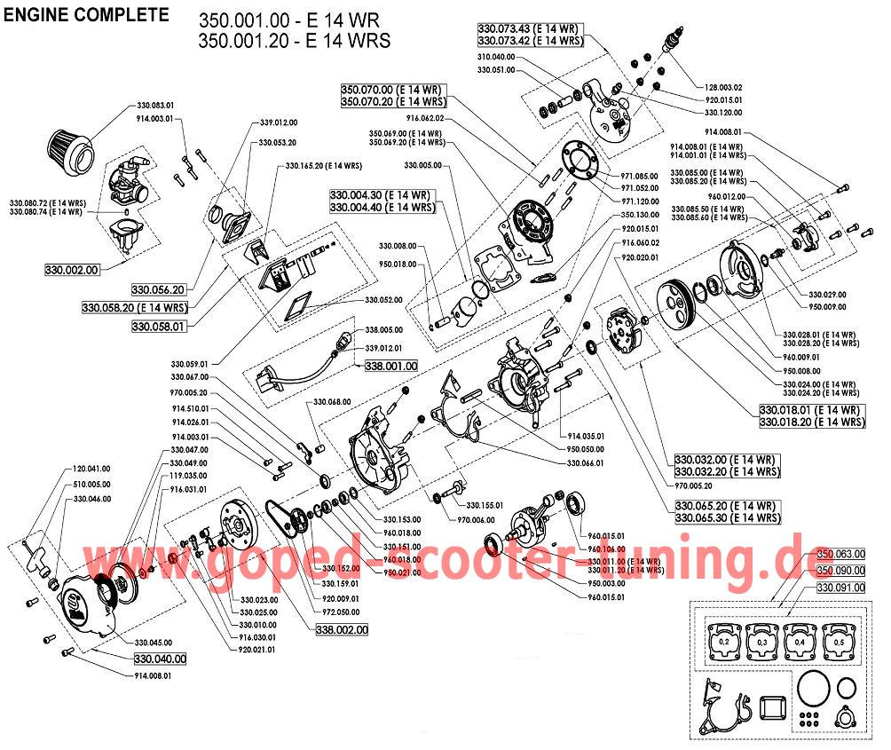 Engine Parts Goped Scooter Tuning Miata Slave Cylinder Diagram