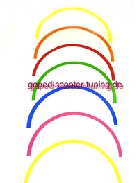 Pocket Bike Rim Sticker Set for two Wheels