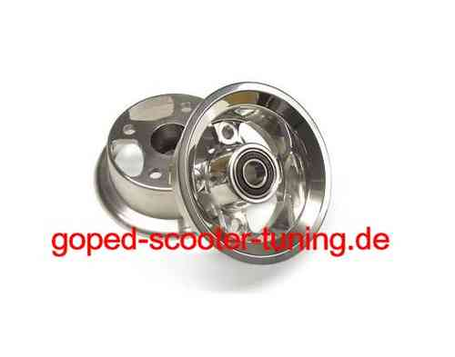 Billet Wheel CNC - polished fits California Go-Ped