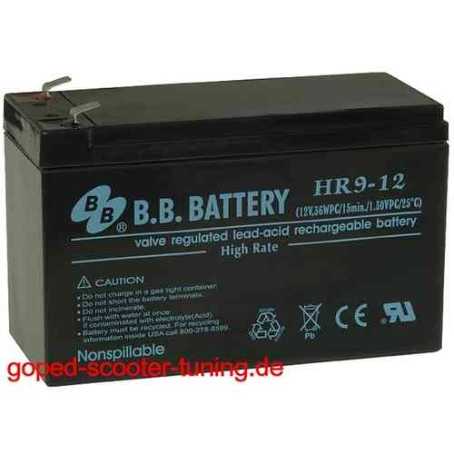 BB California Go-ped ESR750 Battery 6005B