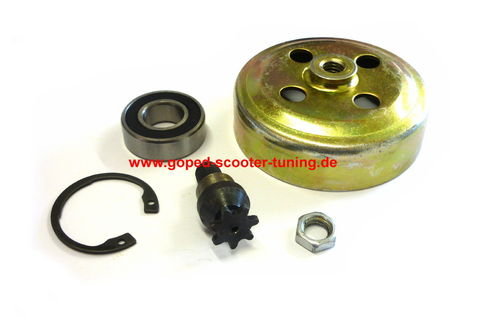 Clutch Case with Sprocket, Snap Ring, Bearing and Nut fits 25H Chain